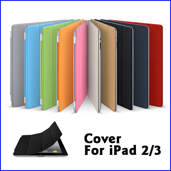 New Magnetic Smart Cover PU Leather Case/ Magic Stand for Apple for iPad case 2 3 Wake Up Sleep