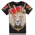 Summer Style 3D Print King Royal Crown Lion Graphic T Shirt Comfortable Ventilate Tees Tops Casual Streetwear Clothes Plus Size