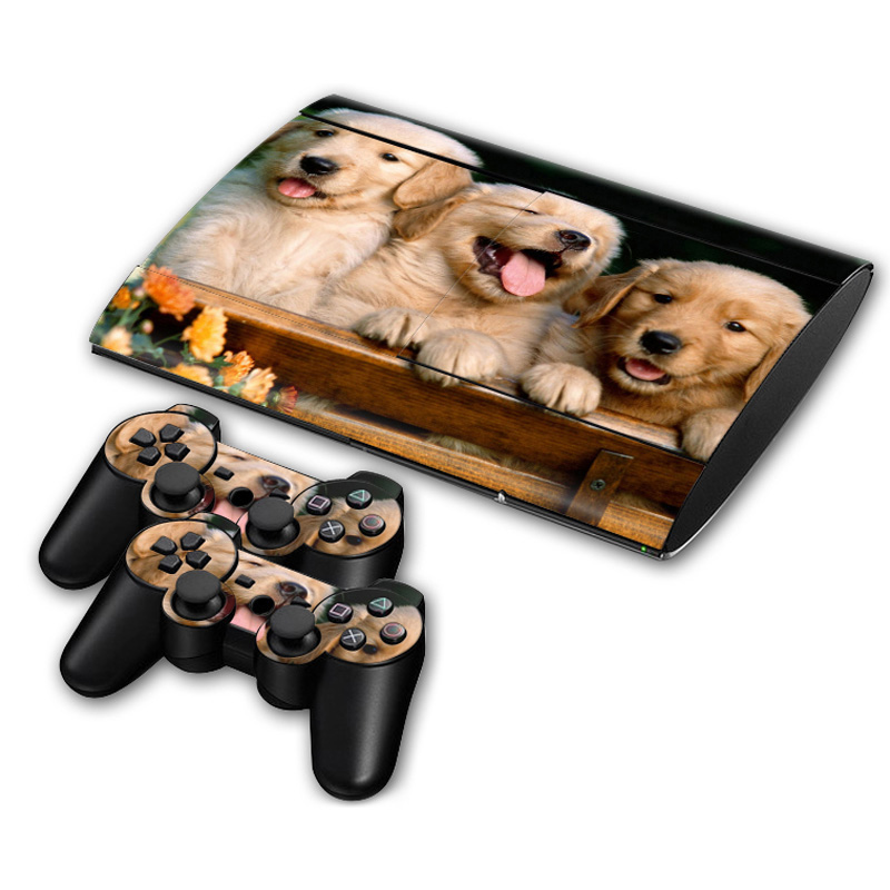 free drop shipping for little animals design skin For PS3 Super Slim 4000 Console and 2 Controller Decals  #TN-P3Slim4000-0058