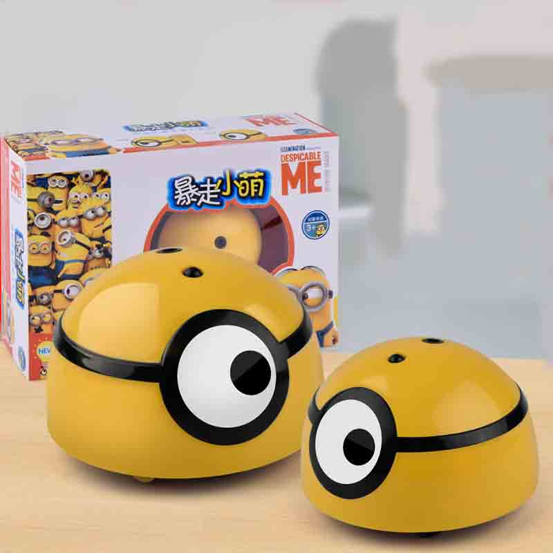 3D Cute Children's Induction Electric Remote Control Runaway Small Yellow Man Owes Swearing Stinky Insect Toy