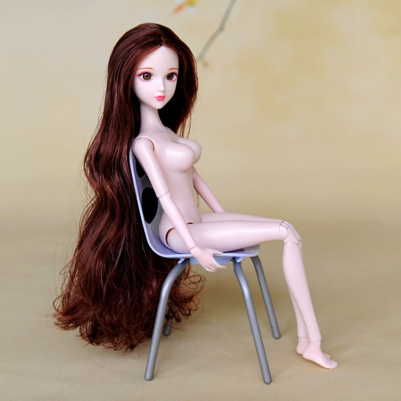 3D Real Eyes Xinyi Doll With Beautiful Brown Curly Hair 16 Joint Movable Body For DIY 1/6 BJD Doll Girls Toys