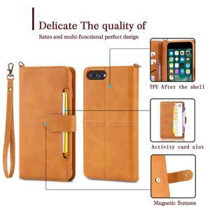 Image 2 - Flip Case Voor Iphone 7 8 Plus Luxe Afneembare Lederen Portemonnee Telefoon Gevallen Magneet Cover Voor Iphone 11 Pro 8 plus 7Plus Xs Xr X