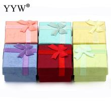 YYW 2017 24pcs/lot Ring Box Colorful Mixed Kraft Paper Gift Box Cute Type Kraft Cardboard Boxes Package For Wedding Party