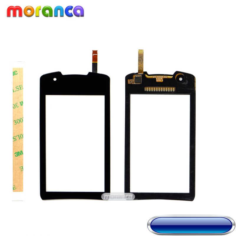 3.0 ''para Samsung Galaxy Monte S5620 5620 Lente Do Painel de toque Touchscreen Tela de Toque Digitador touch Sensor de Vidro Preto Branco + 3 m Fita