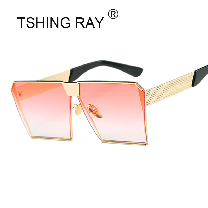 dc0def2be7 TSHING RAY 2017 New Women Men Steampunk Oversized Square Sunglasses ...