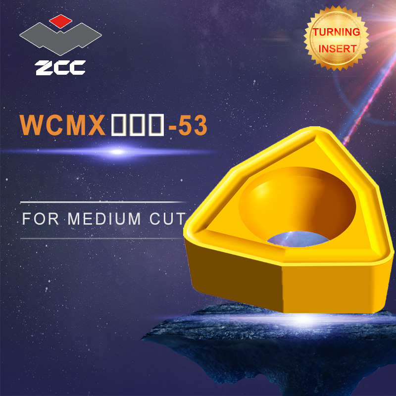 ZCC CNC lathe carbide inserts 10pcs/lot WCMX -53 turning inserts for cast iron steel stainless steel finishingZCC CNC lathe carbide inserts 10pcs/lot WCMX -53 turning inserts for cast iron steel stainless steel finishing