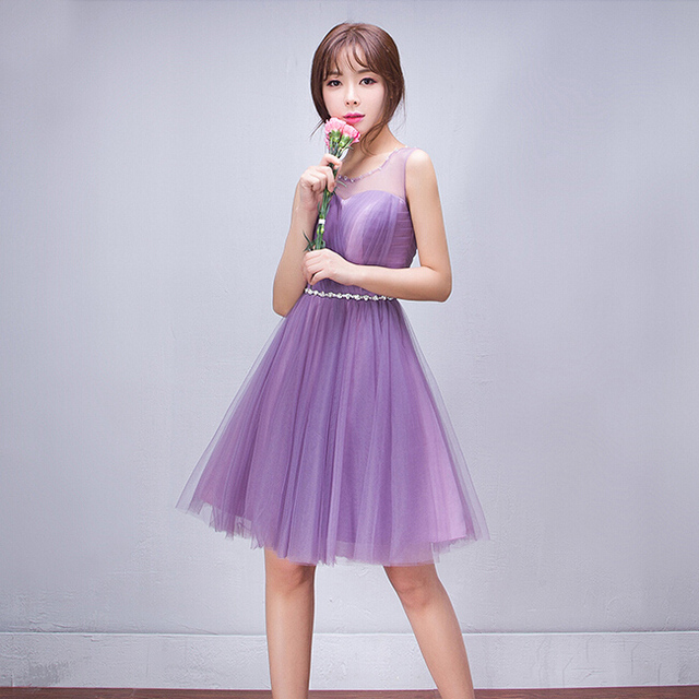 2cb02d07ce beauty pageant sexy purple short dress with sequins tulle womans prom  dresses under 100 for girls 2017 new ball gown H3647
