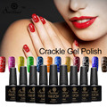 Saviland 1pcs New Arrival Crackle Crack Shatter Nails Lacquer Nail Art UV LED 12 Colors Cracking UV Nail Gel Polish