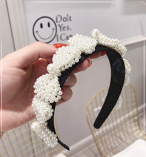 Weave Bow Pearl Flower Headbands For Women Knot Hairbands Korea Hair Accessories Bands Bows Head Wrap