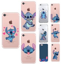 Lovely Stich Soft TPU For Iphone 7 Case Cartoon Thin Coque iPhone 8 5 5S SE 6 6S Plus X Transparent Stitch Cases