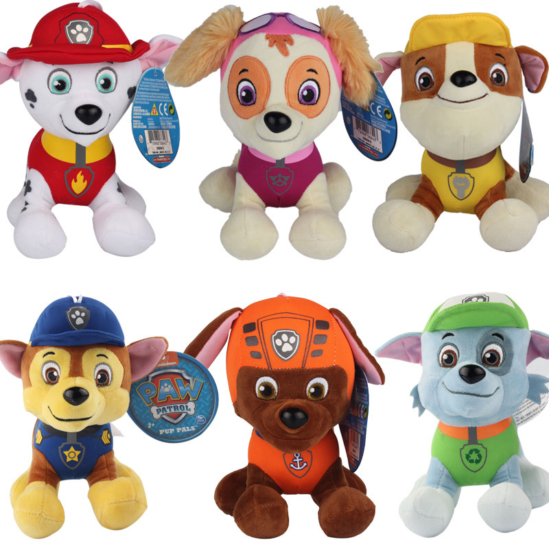 New 12cm 20cm Anime Kids Toys Plush Doll Patrolling Puppy Toy Canine Patrolling Action Figure Plush
