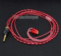 LN004437 130cm Red Custom 6N OCC Hifi Cable For Shure se535 Se846 Ultimate UE900 earphone