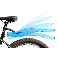 2017 New Arrival Front Rear Flectional Bike Fenders Mountain Bike Plastic 5 Colors Quick Release Bicycle Accessories Mudguard