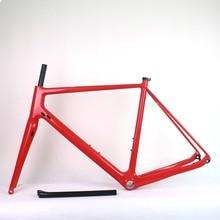 Toray углеродное волокно T800 гравия велосипед рама Новое плоское крепление дисковые тормоза углеродный гравий велосипедная Рама 49/52/54/56/58 см углеродный гравий