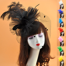 Feather Fascinators for Women and Girls Pillbox Hat Cocktail Church Kentucky Derby Birdcage Tea Party Wedding Face Veil