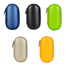 headphones carrying bag  portable zipper case leather headset Case for hard box