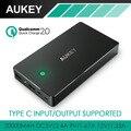 Aukey AiPower y de Carga Rápida 2.0 Banco de la Energía 20000 mAh Portátil paquete externo de la batería con micro usb y tipo c salida/entrada 3A