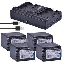 4X 3600mAH VW VBK360 VW VBK360 Camera Battery +USB Charger for Panasonic HDC HS80 SD40 SD60 SD80 SDX1 SDR H100 H85 H95 HS60 HS80