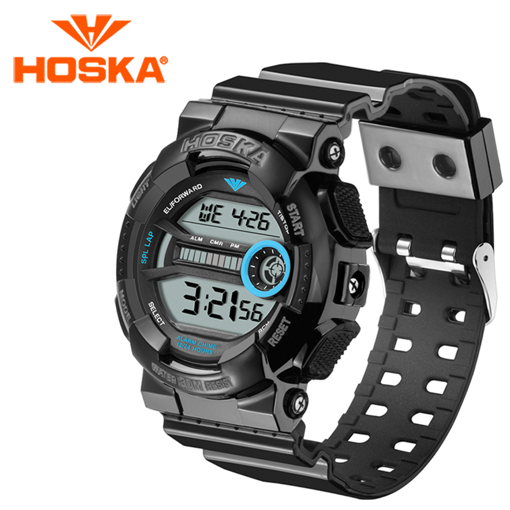 Brand HOSKA men s watches digital watch men sport led digital watch waterproof Multifunction Classic relogio