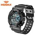 Marca HOSKA hombres relojes digitales hombres del reloj del deporte led digital reloj Multifunción resistente al agua relogio masculino Clásico h015-n