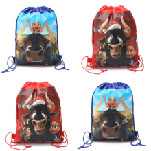 2018 Hot Movie 20pcs Ferdinand theme non-woven fabrics drawstring backpack,boy schoolbag,shopping bag 34*27cm