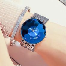 G amp D luksusowe marki złota zegarki damskie unikalne cyrkonie zegarek damski zegarek mody kobiet kwarcowe zegarki na rękę zegar reloj mujer tanie tanio QUARTZ Ze stali nierdzewnej Bransoletka zapięcie Nie wodoodporne Moda casual Brak B075-silver-blue Stop 22mm 20 8cm 10mm
