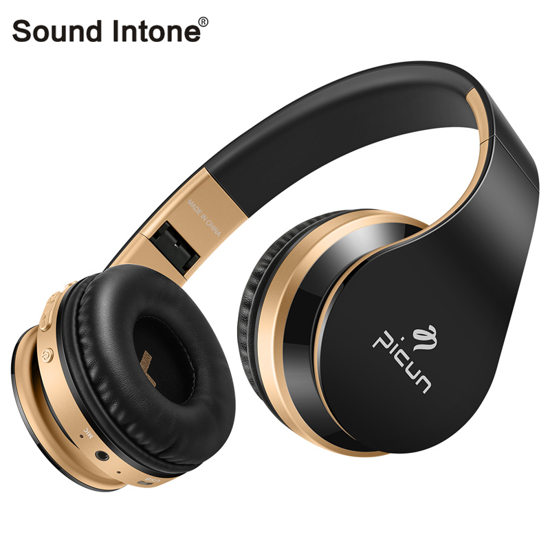 Sound Intone P16 Bluetooth Headset Portable Subwoofer Sport headphones with microphone gaming headset for computer for ipad