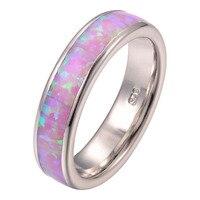 Najnowszy hotsell Różowy Ogień Opal 925 Sterling Silver Fashion Pierścień Rozmiar 5 6 7 8 9 10 11 F1275