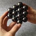 30 шт. 16 мм Черный Магнитные Шарики Сферы Большие Шарики Magic Cube Магниты Блок Головоломки Cube Мэджико Рождественский Подарок