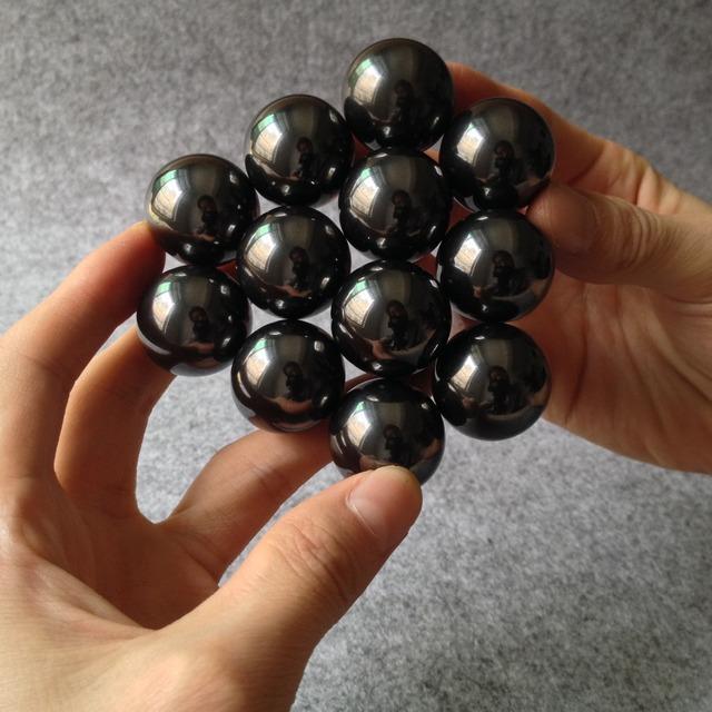 30 unids 16mm Negro Bolas Magnéticas Esferas Big Beads Bloque Imanes Rompecabezas Cubo Mágico Cubo Mágico Regalo De Navidad