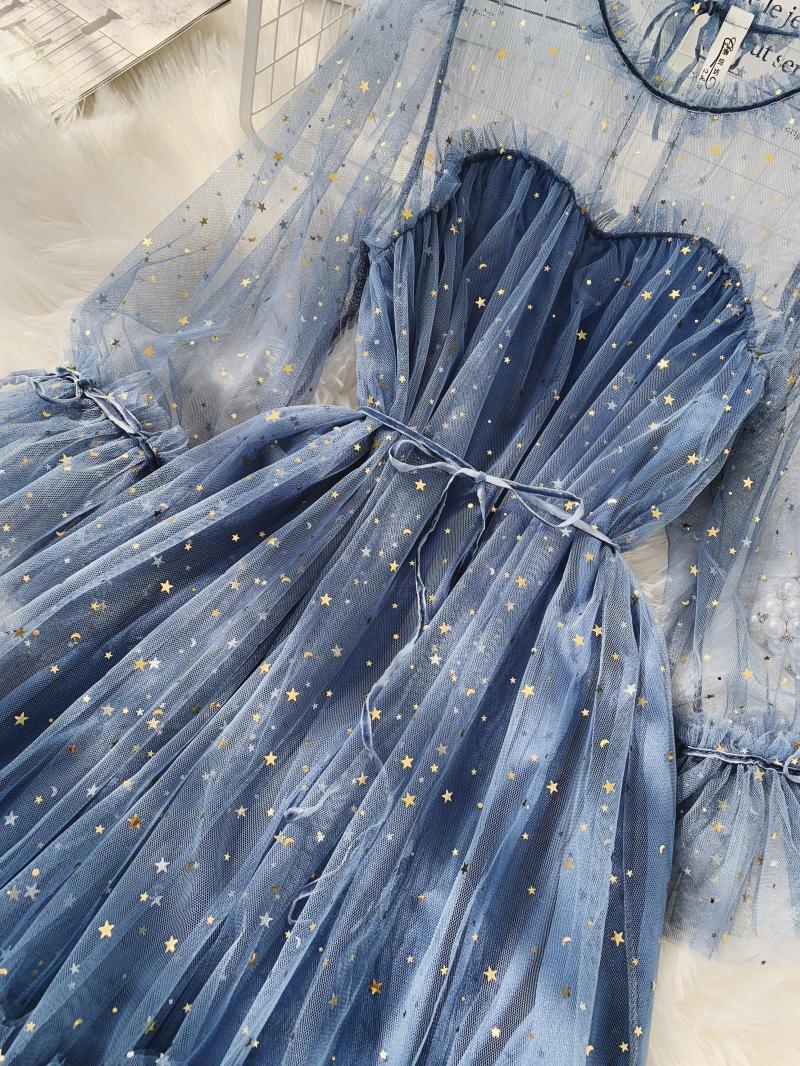 Gauze Two Piece Midi Dress 12
