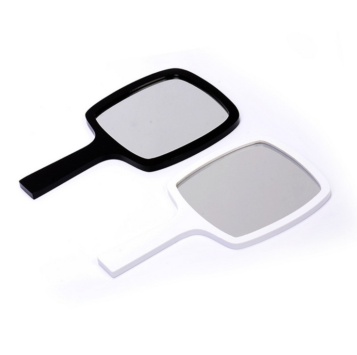 Portable Acrylic Makeup Mirror Personalized Wedding Gifts Black White 2 Colors