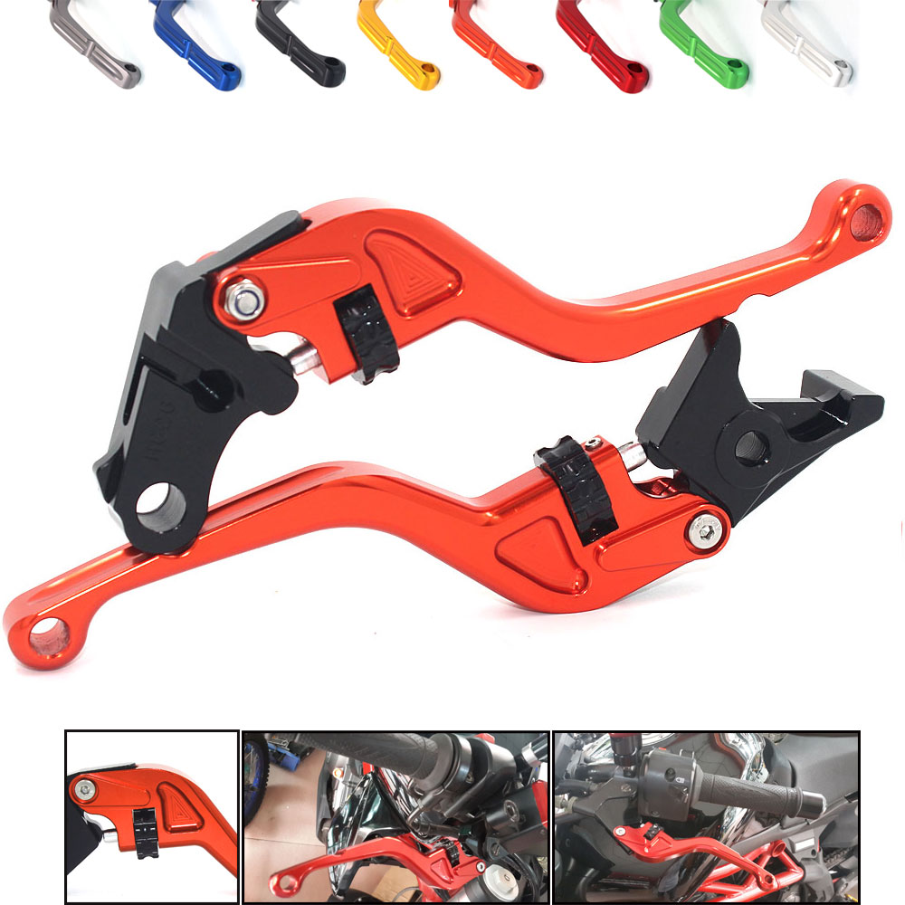 BJMOTO Motorcycle Lever Sets For KTM RC125 RC200 RC390 RC/DUKE 125 200 390 Thumb Wheel Roller Adjuster CNC Brake Clutch Levers