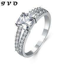Silver plated new design finger ring for lady high quality wedding jewelry women Cubic Zircon gift for engagement