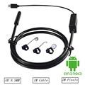 HD Lente de 2MP 6 LED 8.5mm 1 M/2 M/3.5 M/5 M USB Android endoscópio Endoscópio Tubo de Inspeção Camera OTG Android Telefone À Prova D' Água
