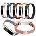 Bucle magnético de lujo correa de acero inoxidable personalizada de alta calidad correa de la banda para fitbit alta smart watch wholesale