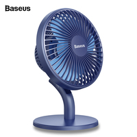 Baseus Rechargeable USB Fan Desktop Desk Electric Mini Fan For Office Gadgets Portable Summer Cooler Cooling Fan Clip Small Fan