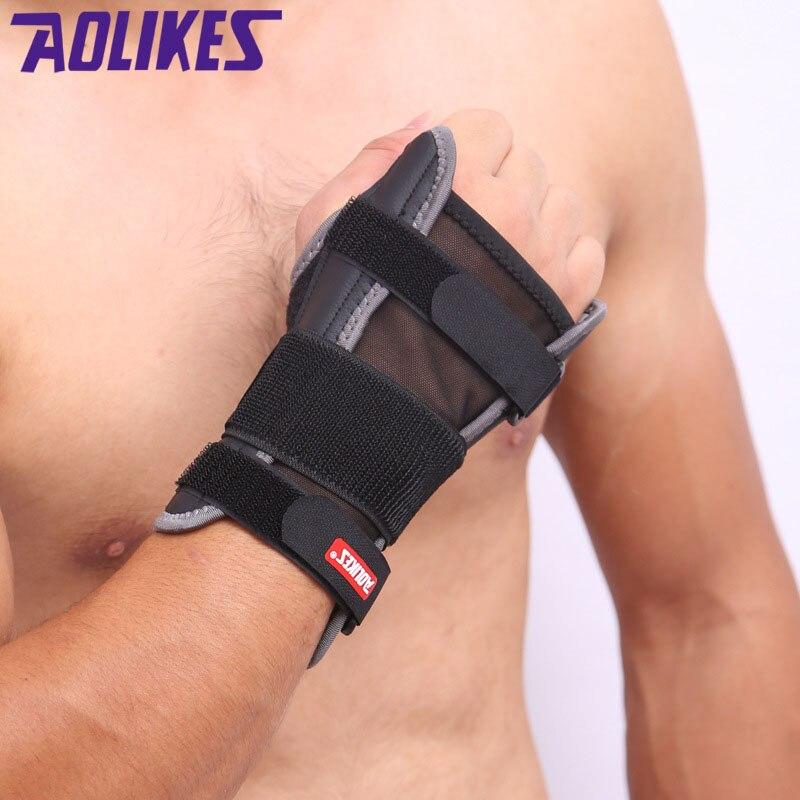 1PCS Wrist Brace Support Sport WristBand Safe Steel Splint Hand Thumb Bandage Wrist Wraps For Men Women Dislocated