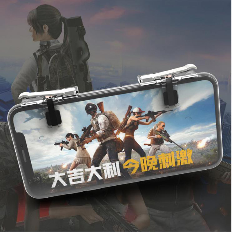 Y9 Mobile Game Fire Button Aim Key joystick Smart phone Mobile Game Trigger L1R1 Controller for PUBG