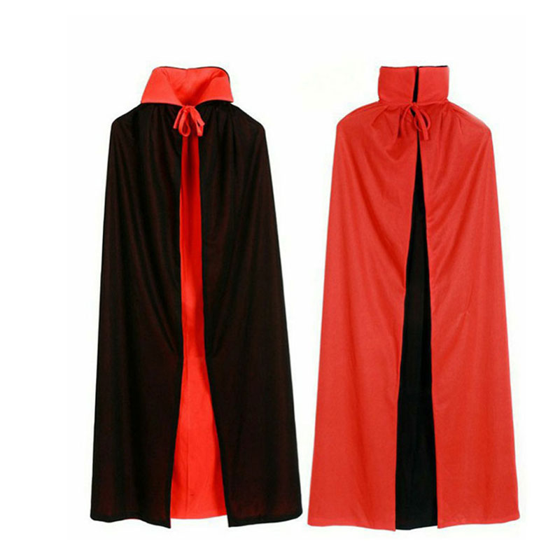 Halloween witches collar black and red cape cloak cosplay vampire cape worn on both sides of the double cloak