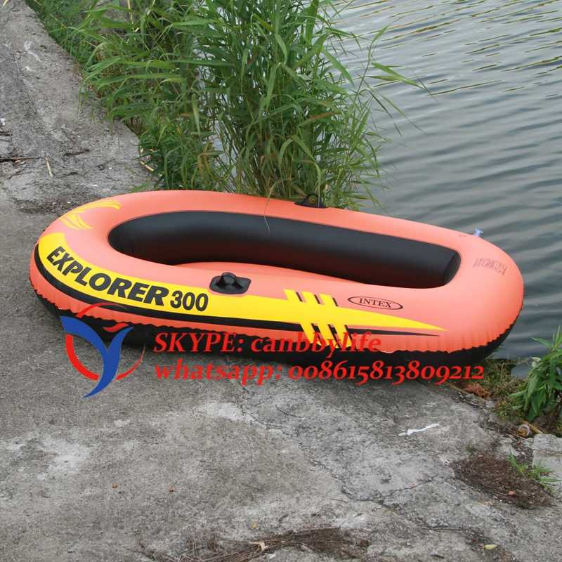 Three Person Intex Explorer 300 Inflatable Swimming Pool Water Playing  Racing Boat Float Raft With Paddles And Pump