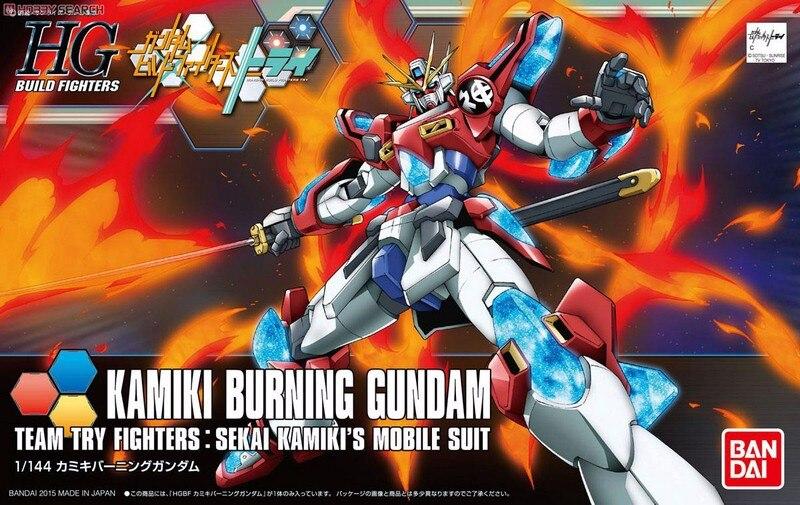 1PCS Bandai HG Build Fighters HGBF 043 1/144 Kamiki Burning Gundam Mobile Suit Assembly Model Kits Anime action figure Gunpla xeltek private seat tqfp64 ta050 b006 burning test