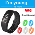 Free DHL Smartband W6 Sports Intelligent Pedometer Smart Bangle Wristband LED Watch Fitness Tracker Temprature Silicone Bracelet