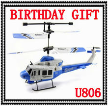 Free Shipping RC Kids Toy UDIC806 3.5CH Gyro Remote Radio Infrared Control RC Helicopter  Kit Electric Unique Plane Toy VS HL803