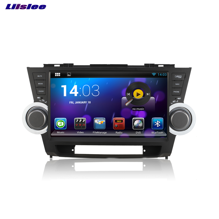 Liislee For Toyota Highlander 2011~2014 Android Car Bluetooth Stereo GPS Navigation player Multi-Touch Screen