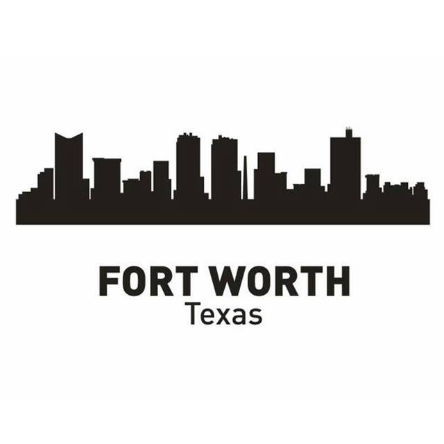 FORT WORTH City Decal Landmark Skyline Wall Stickers Sketch Decals Poster Parede Home Decor Sticker