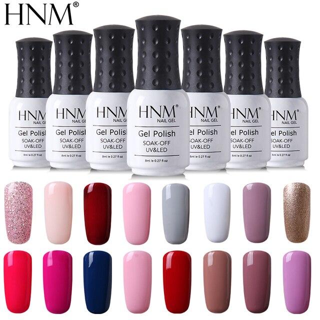 HNM 8ml UV Nail Gel Polish Quick Dry Gel Nail Polish Gel Lak Long ...