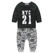 Summer Children Clothing Sets Boys Girls Kids Sport Suit Tracksuits 2pcs Cotton Shirt+pants