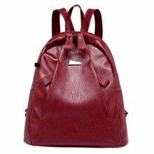 bffc90e22e Women s Burglar-Proof Backpack Soft Handle Solid Zipper Casual Student Bag  Headset Bag Travel Bag