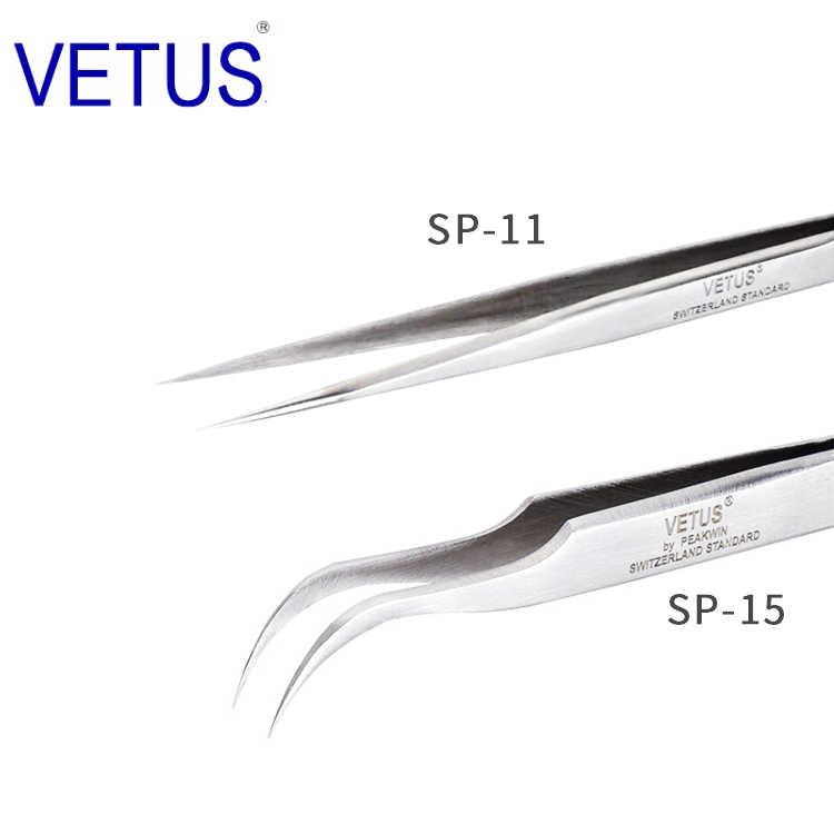 Vetus TS-15 ESD antiest/áticas, curvadas Pinzas para reparaci/ón de tel/éfonos m/óviles